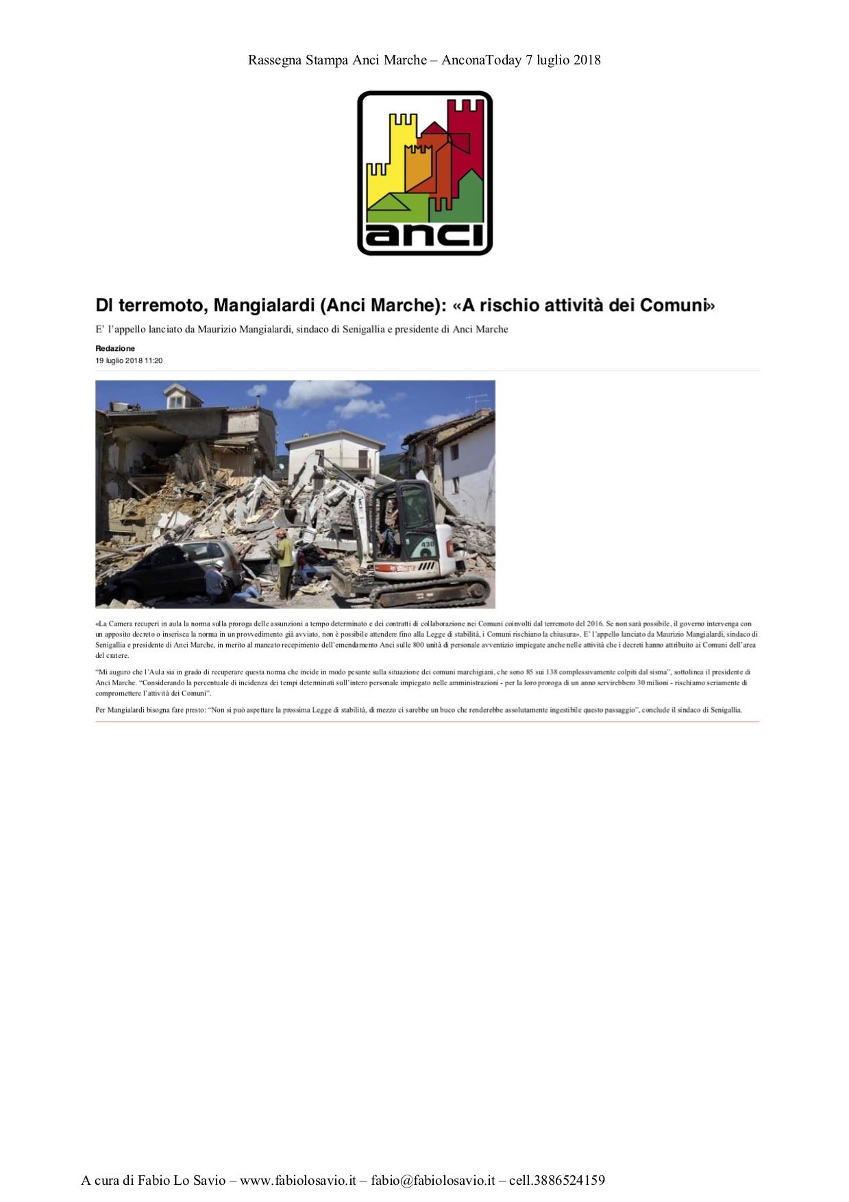 AnconaToday 7 luglio 2018 - ANCI