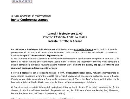 Anci Marche e Fondazione Aristide Merloni sottoscrivono un protocollo d'intesa per la realizzazione e la promozione di un corso di formazione incentrato sulla corretta redazione del Bilancio Economico-Patrimoniale per i 229 comuni della Regione Marche.