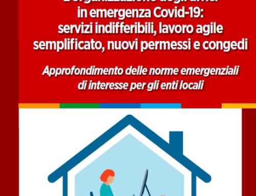 Quaderno operativo sulla riorganizzazione degli uffici dei Comuni in emergenza