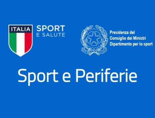 On line la graduatoria del bando Sport e Periferie 2020